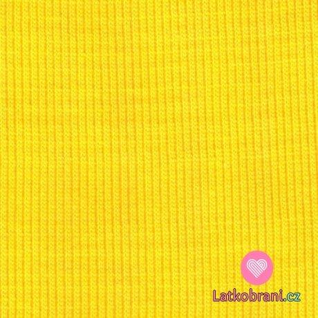 Náplet žebro sluníčkově žlutý
