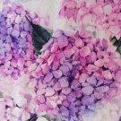 Teplákovina potisk kytice hortenzií na smetanové