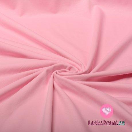 Jednobarevný úplet světle růžový teplejší odstín 180 g