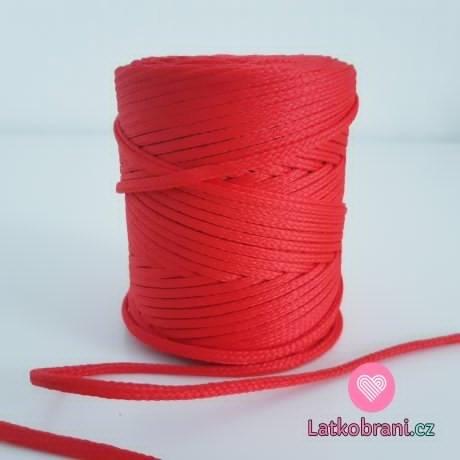 Šňůra oděvní kulatá  PES 4 mm červená