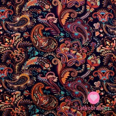 Teplákovina barevné mandaly v podzimních barvách