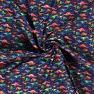 Softshell barevní dinosauři na modré