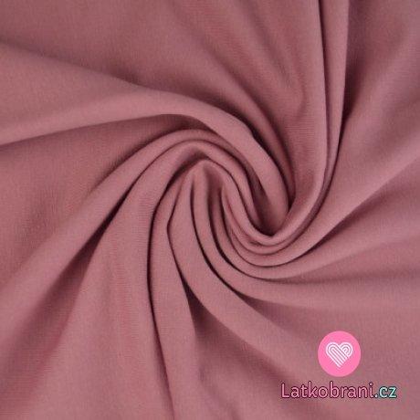 Jednobarevná teplákovina starorůžová (tmavá)