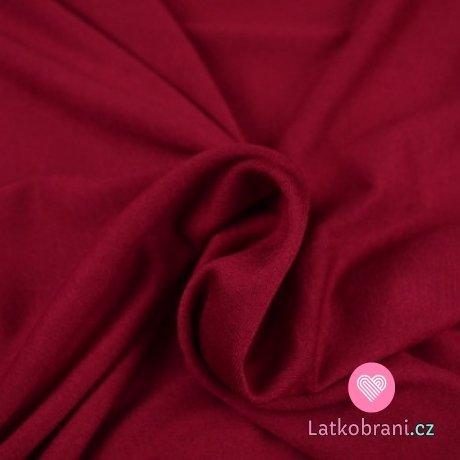 Viskózový jednobarevný úplet červený