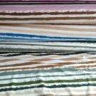 Úplet potisk malované proužky do modra na bílé