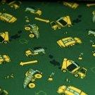 Úplet míchačka žlutá na myslivecké zelené