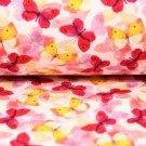 Teplákovina s barevnými duhovými motýlky (žlutý, červený)