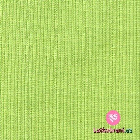 Náplet žebro svěže zelený - jablkový
