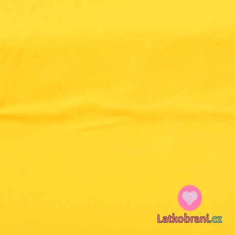 Jednobarevný úplet tmavě výrazná žlutá 215g