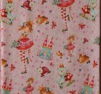 Úplet princezna se zámkem, beruškou a kočkou na růžovém podkladu