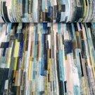 Úplet potisk abstraktní proužky v šedo - modrých odstínech