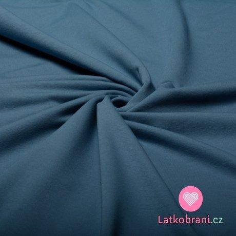 Teplákovina jednobarevná jeansově modrá