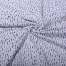 Teplákovina potisk zajímavé puntíkové čárky na bílé