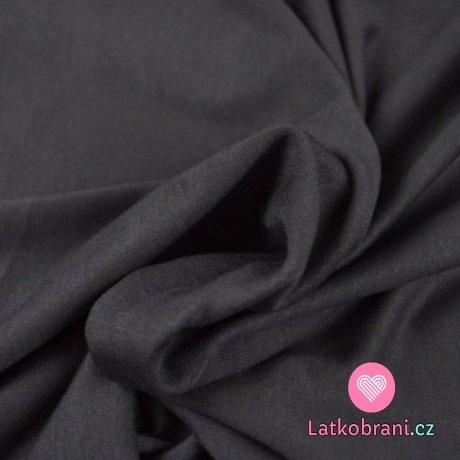 Viskózový jednobarevný úplet tmavě šedý