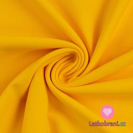 Teplákovina jednobarevná sytě žlutá