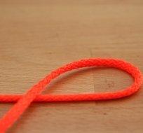 Šňůra kulatá oděvní PES 4 mm neon oranžová