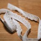 Pruženka prádlová krajka bílá 10 mm