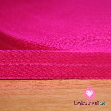 Šikmý proužek / lemovací pruženka růžová pink