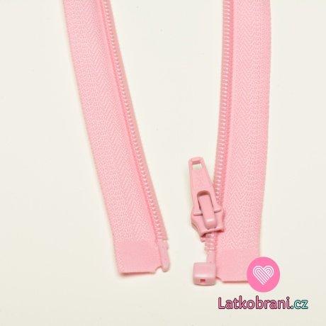 Zip spirálový dělitelný baby růžový 40cm
