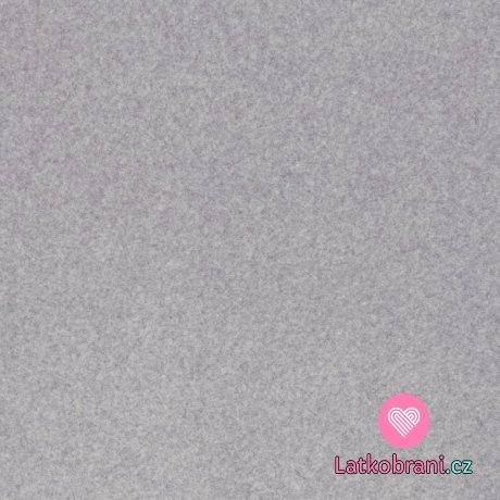 Bavlněný fleece jednobarevný melange šedý
