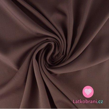 Viskóza jednobarevná tmavá starorůžová