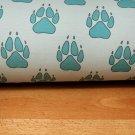 Teplákovina psí tlapky na šedo-modré