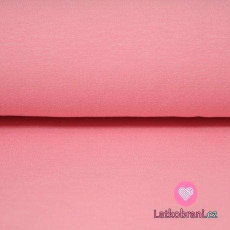 Jednobarevný úplet růžová s nádechem do broskvové 220g
