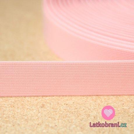 Pruženka barevná růžová dětská 25mm