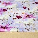 Úplet digitisk bílý kůň s fialovými květy (dva díly)