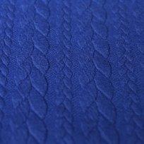 Pletenina copánky královsky modrá