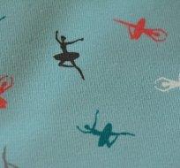 Úplet zelinkavý drobné barevné baletky