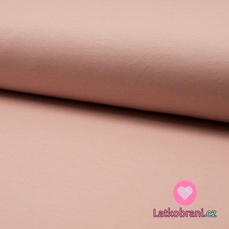 Teplákovina jednobarevná pudrová