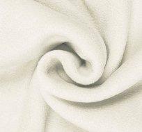 Polar fleece antipiling zaprášená bílá do smetanova