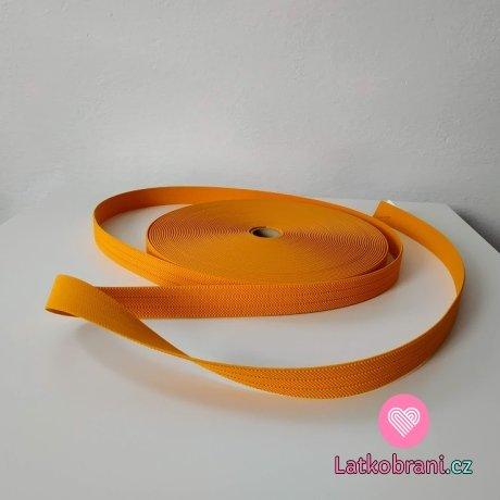 Pruženka barevná oranžová 25 mm opasková