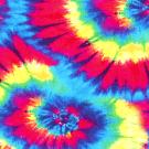 Teplákovina potisk batika pestré spirály