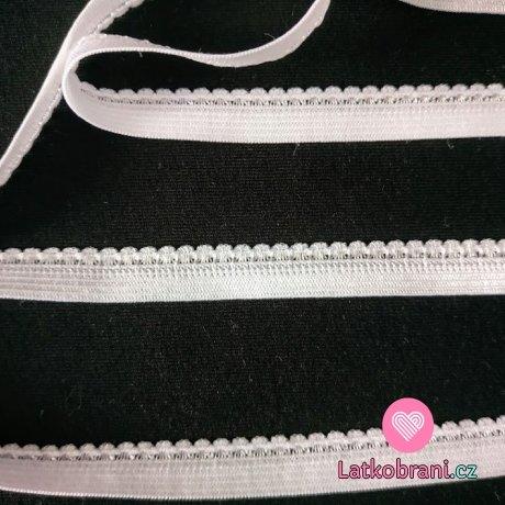 Pruženka prádlová, ozdobná bílá 10,5 mm