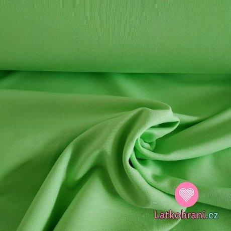 Jednobarevná teplákovina pistáciově zelená 240 g