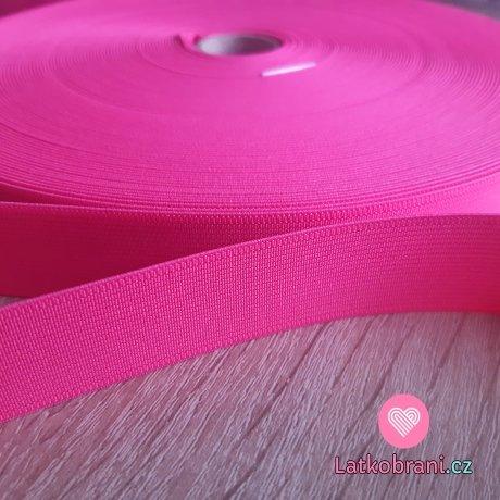 Pruženka barevná zářivě růžová 25 mm