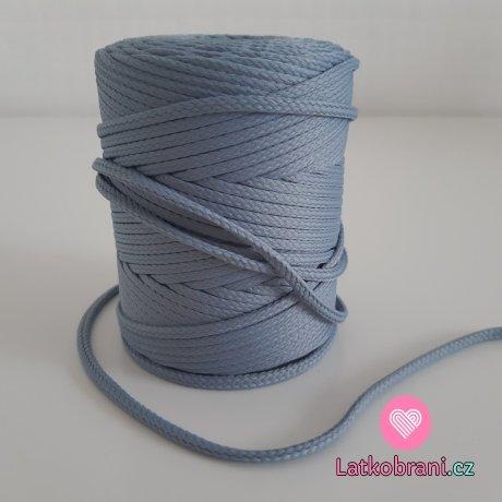 Šňůra oděvní kulatá  PES 4 mm ocelově šedá