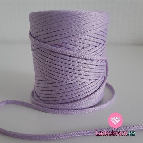 Šňůra oděvní kulatá  PES 4 mm baby fialová