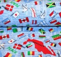 Úplet národní vlajky na modré - ZBYTKY