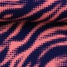Viskóza tygří vzor v růžovo-modré