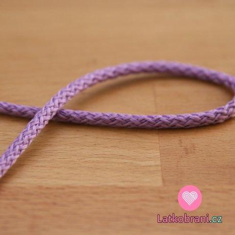 Šňůra kulatá oděvní PES 4 mm fialová lila