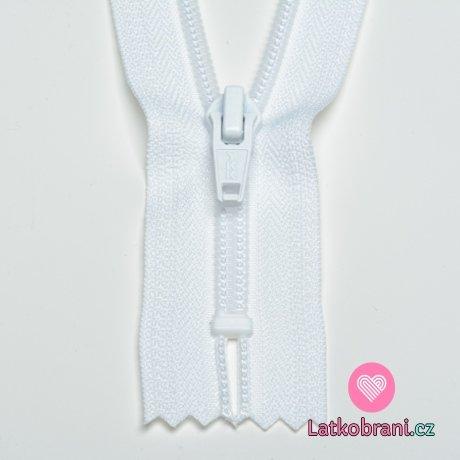 Zip spirálový nedělitelný bílý 12 cm