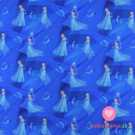 Úplet potisk kouzlící Elsa na modré