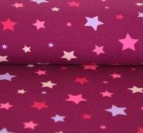 Úplet hvězdy pink na fialovo-vínové