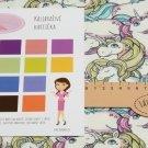 Úplet potisk jednorožci v pastelových barvách