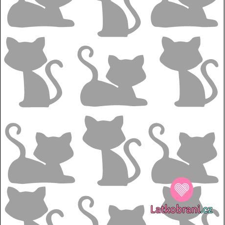 Reflexní nažehlovačka kočky (12ks)