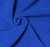 Jemný polar fleece královsky modrá antipiling