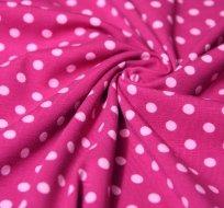 Úplet puntíky růžové na amarantové 5mm